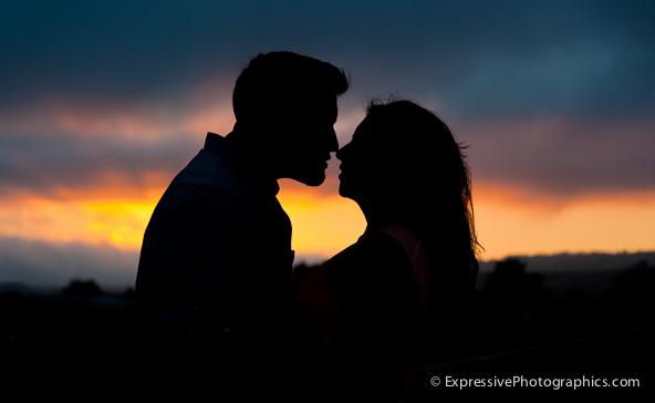 Sunset engagement portrait