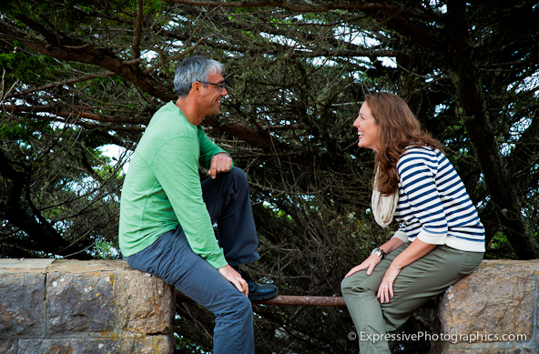 Sutro Heights Engagement Picture