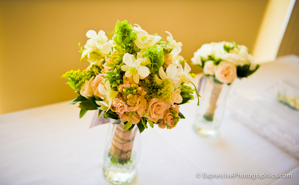 seascape golf club wedding flowers