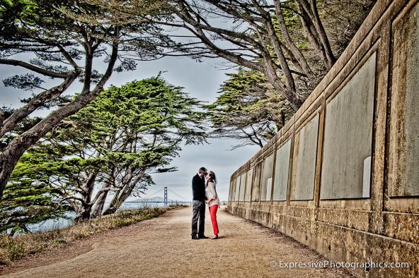 Lands End Engagement Photo