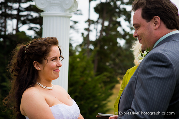seascape golf club wedding ceremony photo