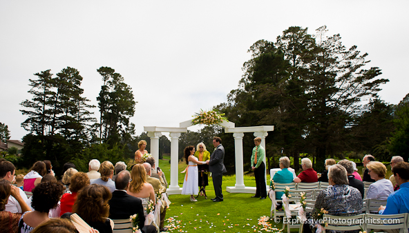 seascape golf club wedding ceremony