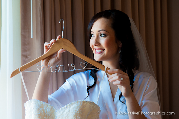 bride with wedding dress, Hilton Scotts Valley