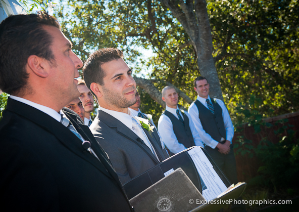 wedding ceremony photo, hollins house, santa cruz