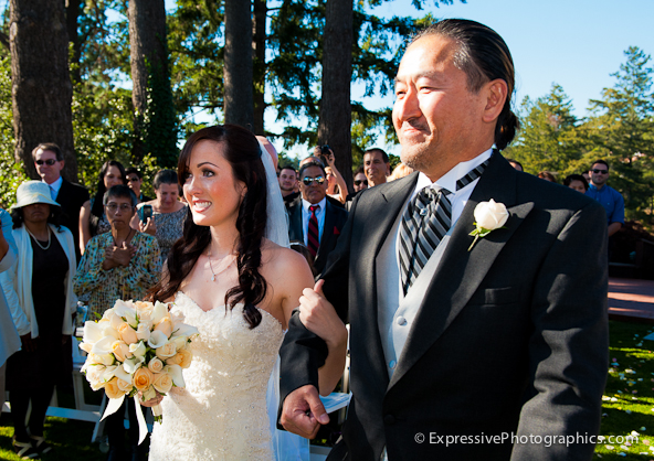 bride and father, hollins house