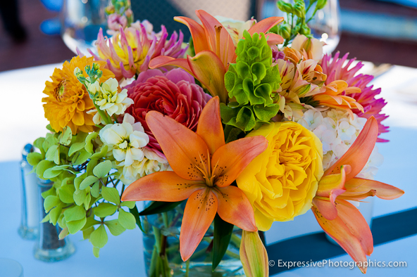hollins house wedding table centerpiece