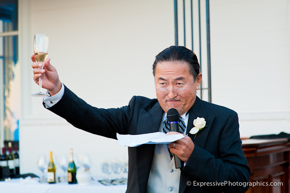 toast, father of bride