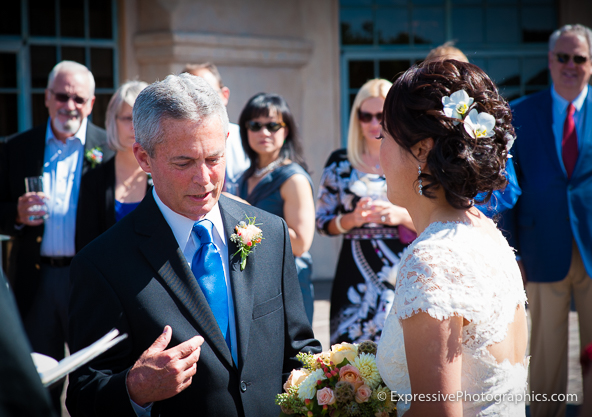 Carmel wedding ceremony image