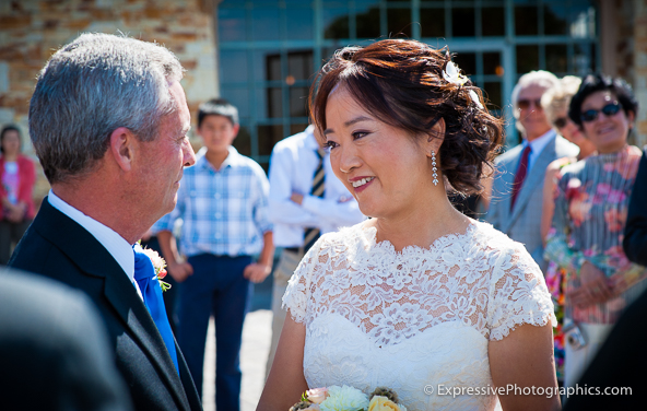 Tehama Golf Club wedding ceremony