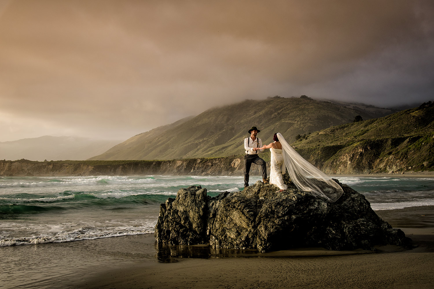 big sur elopement photo