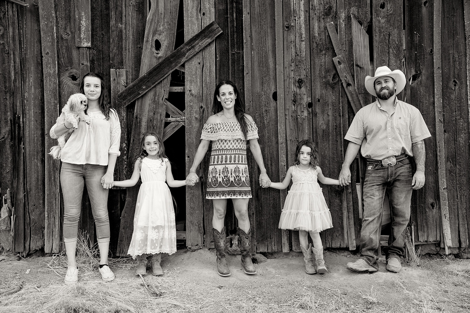 family portraits at a ranch